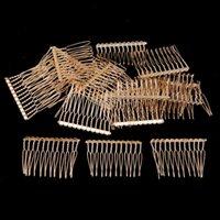 Hair Clips & Barrettes 20x Metal Plain Combs Pin Slide Side Comb Headpiece Wedding Bridal Veil