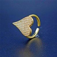 Wedding Rings Fashion Zirconia CZ Heart Shaped Women's Zircon Engagement Glamour Jewelry