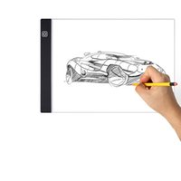 Novelty Lighting Graphics Tablet LED Cartoon Painting LEDy Lights Pad A4 Drawings Board DIY Luminous Writing TabletDrawing Tablets LEDs Light Box USASTAR