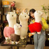 25 cm alpaca peluche giocattolo 6 colori carino bambola animale morbido cotone ripieno home ufficio decorazione per bambini ragazza compleanno regalo di Natale