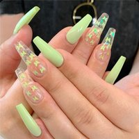24PCS 3D Butterfly Fake Nails Transparent Long Ballerina False Fingernails Patch Detachable Full Cover Tips DIY Nail Art Salon Manicure Decor
