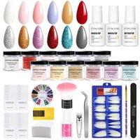 Nail Art Kits Dipping Powder Set Acrylic Kit All For Manicure No Need Lamp Dry Tips Brush Tools