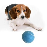 Dog Toys & Chews 6.5cm Tennis Ball For Pet Chew Toy Big Inflatable Outdoor Jumbo Training Chewing ToysT