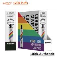 Authentic HQD 1200 Puffs Cuvie Plus Descartável POD Kit E Cigarros Vape Pen 950mAh 5ml Pré-preenchido vs King 2000 Vozol Bar