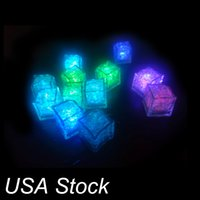 Led Ice Cubes Lights Flashing Dompelbare Licht omhoog Rotsen voor Bar Club Wedding Party Gift Event Champagne Tower Decoration Oemled