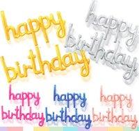 생일 축하 배너 풍선 파티 장식 로즈 골드 5 색 풍선 편지 장식 재사용 가능한 풍선 용품 GWB8533