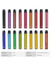 정통 Iget Shion 일회용 포드 장치 키트 전자 담배 400mAh 배터리 600 퍼프 2.4ml 미리 채워진 카트리지 vape vs XXL Plus Bang
