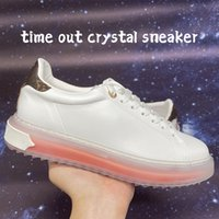 2021 أعلى جودة الوقت خارج كريستال سنيكر إمرأة عارضة أحذية جامعة بلو وردي أبيض أزياء أزياء المرأة luxucy تصميم أحذية رياضية الحجم 35-40