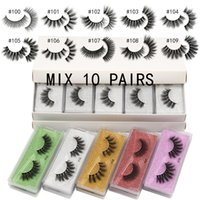 3D False Fake Eyelashes Extension Synthetic Hair Full Strip Eye Lashes Thick Natural Long Lahs 10 Pairs Per Lot SDSP008