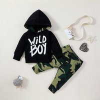 Baby Boys Letter Hoodies+Trorsers Outfits Fall 2020 Kids Clothing for Boutique 0-2T Infant Toddler 2 PC Set Stylish Baby Clothes