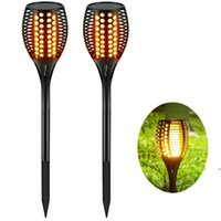96 LED impermeable parpadea llama antorcha solar Luz de jardín al aire libre Lámpara de jardín LED Efecto de fuego Noches de paisaje FWE7282