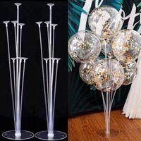 1/2 conjunto 73cm Balloon Stand Titular Balões Acessórios Festa de Aniversário Decoração Do Casamento Ballon Flutuante Vara De Bebê Christmas