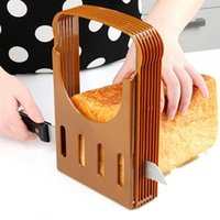 Baking & Pastry Tools Portable Bread Slicer Toast Cutter Sandwich Maker Slicing Machine Foldable And Adjustable Loaf Rack Cutting Guide