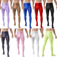 Men's Pants Men Fashion Sheath Glossy Pantyhose Ballet Dance Yoga Leggings Training Fitness Workout Sports Trousers Tights