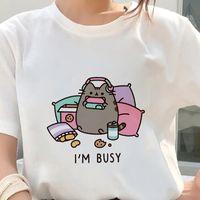 T-shirt Femme Kawaii Fat T-shirt T-shirt Femmes 2021 Été Mignon Mode manches courtes Blanc Mince section Hipster Tshirt Tops Vêtements