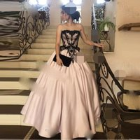 Evening Dresses Long Off the Shoulder A-line Sleeveless Satin V-back Prom Gowns robe de soiree
