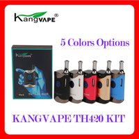 Kangvape TH-420 II 스타터 키트 650mAh 예열 VV 배터리 0.5ml 세라믹 코일 카트리지 TH420 V2 VAPE MOD