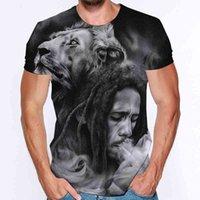 Uomini bob marley manica corta stampa 3D tees vestiti da donna t-shirt da uomo t-shirt grafica top femminile maschio tumblr t shirt t-shirt