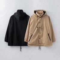 2021 дизайнеры мужская куртка роскошки с капюшоном мода пальто мужчины ветровка зимнее пальто наружная уличная одежда S-XXL G1