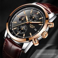 Top Lige Mode Männer Sportuhr Herren Quarz Business Uhren Leder Militär Wasserdichte Uhr Relogio Masculino Armbanduhren