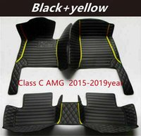 For Mercedes-Benz Class C AMG 2015-2019 Custom Car Splicing Floor Mats Waterproof Leather Wear-resistant Non-toxic Tasteless and Environmentally Friendly Foot Mats