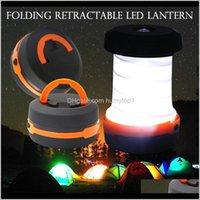 Lanternas portáteis e esportes ao ar livre ao ar livre 3 modos lanterna tenda retrátil lâmpada de campismo led lanterna para caminhadas emergências ligh