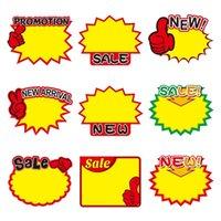 Promotion Tag Etikett Papper Pris Kort Explosion Formad Prissättning Biljettskärm Reklam Banner Etiketter Taggar erbjuder affisch 50bag t10i55