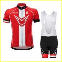 펠트 사이클링 저지 세트 투어 드 프랑스 반소매 Ropa Ciclismo 고품질 여름 자전거 착용 퀵 드라이 자전거 의류 41534