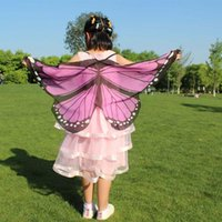 Scarves Child Kids Boys Girls Bohemian Butterfly Print Shawl Pashmina Costume Accessory Ly Design Wings Drop