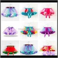 19 cores bebê meninas tutus arco-íris cor menina tutu saias com arco kids malha de malha camada de bolo performa vestidos fit 211 anos ov6p6 wwyez