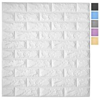 Art3d 5-Pack Peel and Stick 3D Wallpaper Panels for Interior Wall Decor Self-Adhesive Foam Brick Wallpapers