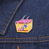 Street pop creative blood capillary badge Pins biology teacher metal medical brooch jewelry doctor nurse gift party accessories H1018