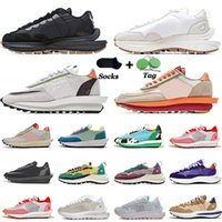 Sacai x Nike LDV LDWaffle VaporWaffle Pegasus Running Shoes Mens Womens Nylon White Off Black NYC Pigeon Fragment Green Gusto Trainers 스포츠 스니커즈