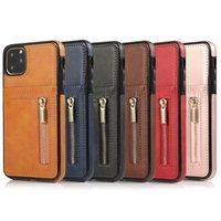 Premium Leder Brieftasche Telefon Hüllen für 12 Mini 11 PRO MAX XS XR x 8 7 Plus mit Kartenhalter Back Cover Case
