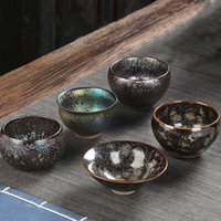 Tianmu Glaze Tea Cup Ceramic Teacup Colorful Peacock Single Jianzhan Bowl