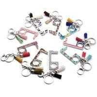 EDC Anti-Epidemic Открывающие Клазонные Клазопы Keychains Кнопка Keychain Толкатель Крючок Стилус Устройство Инструмент Автомобильный Сумка Кошельки Ключ Цепь