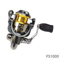 İplik Reel FS 800 1000 2000 3000 Metal Makara Balıkçılık Bobin 7 KG Max Sürükle 9 + 1BB Ultralight Alabalık Reel