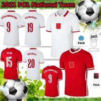 Polska 2021 National Team Soccer Jerseys Lewandowski Milik Piszczek Homens Uniformes Pol Polonia Kit 21 22 FC Away World World Football Shirt