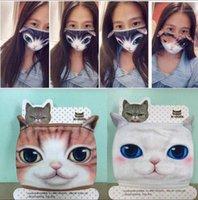 3d kreskówki dekoracyjne maski dla kotów i psów kreatywnych osobowość zmywalny bawełniany pył i bawełna odporna na rowerze przyjęcie wielokrotnego użytku maski
