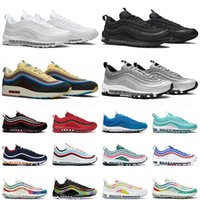 air max 97 Erkek Koşu Ayakkabıları 97 MSCHF x INRI İsa TAVSİYE Üçlü siyah 97s Yansıtıcı Getirilmiş Erkekler kadınlar spor Sneakers 36-45ai