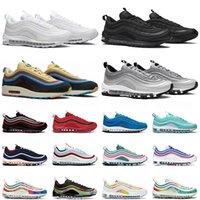 97 mens running shoes triple black white 97s silver metallic gold bred game royal men women sports sneakers