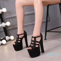 Summer New Womens Shoes Night club 17 cm tacchi alti sandali tacchi a tacco spesso piattaforma sandali sexy