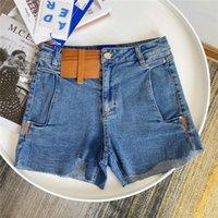 Schadens-Shorts Jeans Frauen 1 Hochwertige unregelmäßige Schnitt mit hoher Taille-Denim