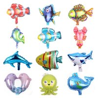 Cartoon ocean fish aluminum balloon party decoration children toy decorate birthday gift balloons