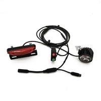 Bike Lights 12V-60V 8W 650 Lumen LED Front Light With Rear Waterproof Switch For Bafang BBS01 02 HD