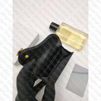 Saddle Flap Titular de la tarjeta oblicua Jacquard Designer Moda para mujer Compacto Mini Billetera Pochette Accessoires Key Pouch Cles