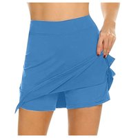 Skirt Yoga Shorts Women's Solid Active Performance Skort Lightweight for Running Tennis Golf Sport Athletic Bikershorts