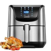 Air Fryer, Aicoook 1700W 5.8qt AirFryer Forno com sabor nítido, para assar, assar / grelhar, desidratação, reaquecimento, desligamento automático, máquina de lavar louça, receita