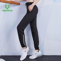 Vansydical Jogging Pantolon Kadınlar Siyah Gevşek Koşu Spor Pantolon Spor Nefes Kadın Eğitim Spor Yoga Egzersiz Pantolon