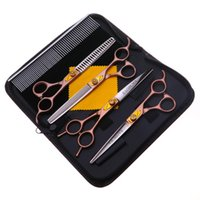 Hair Scissors VICMOVE 7 Inch Pet Grooming Set Straight Curved Dog Cat Cutting Thinning Shears Kit Tesoura Para